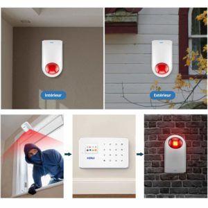 Descubra la alerta sonora del sistema de alarma del hogar.