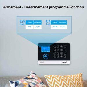 L'autonomie d'un système d'alarme à domicile en cas de panne de courant.