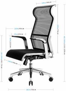 Évaluation de chaises de bureau ergonomique Songmics OBG62B