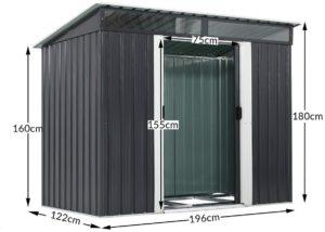 Gardebruk - Abri de jardin en acier galvanisé 3,35 m³