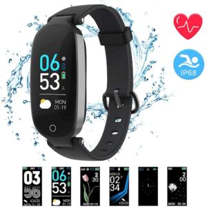 Avec sa puce de fréquence cardiaque dynamique, ce bracelet connecté peut, selon les tests, afficher le rythme cardiaque en temps réel.