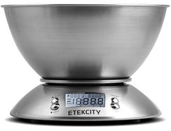 Balance de cuisine Etekcity Food en acier inoxydable avec bol amovible