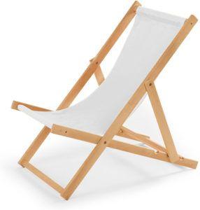 Ce modèle est conçue une structure en bois et une toile pour soutenir le poids du corps en position semi-couchée