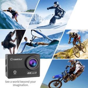 Cette caméra Cross Tour Ultra HD 4K offre de nombreux formats vidéo et 16 MP pour les photos. Faites le test sans plus attendre.