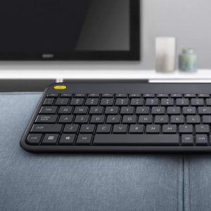 Clavier ergonomique Logitech K400 conçu pour le gaming sur PC et TV
