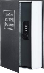 En forme de livre, ce coffre-fort n'attire aucune attention, ce qui fait de lui une excellente cachette pour vos outils de petite taille.
