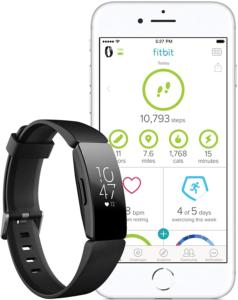Fit bit Inspire HR reconnaît automatiquement des activités physiques et sportives comme la marche, la course, la natation, le vélo et les enregistre pour vous dans l'App Fit bit.