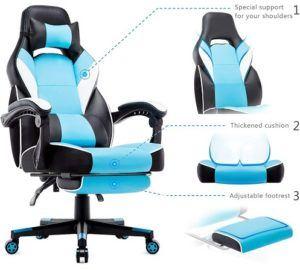 La chaise pivotante se doit d'être ergonomique pour limiter les risques de maux de dos suite à un usage prolongé et quotidien.
