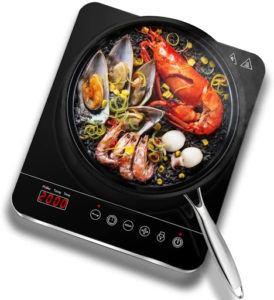 La plaque à induction permet un contrôle précis de la température de cuisson