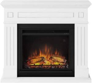 La simulation de bûches de bois en train de brûler offre aux cheminées électriques un charme indéniable
