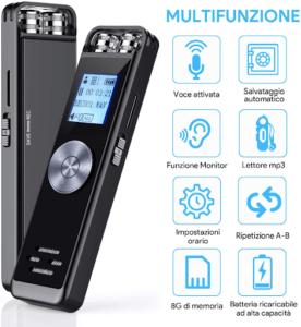 Le dictaphone a une taille compacte qui facilite le transport selon l'avis des utilisateurs.