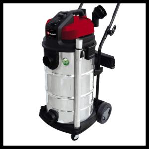 Le modèle Einhell TE-VC 2340 SA est un aspirateur puissant capable d'aspirer à la fois les déchets solides et liquides