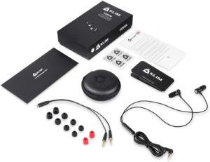 Le package complet des ces écouteurs intra-auriculaires