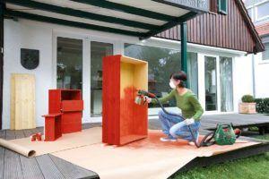 Le pistolet à peinture de Bosch en action