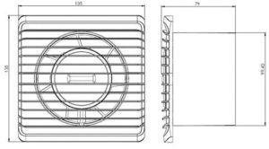 Le schéma technique de l'extracteur d'air de Plumbing4Home