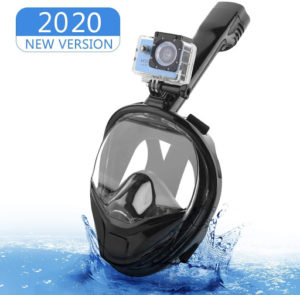 Masque adaptée pour la plongée permettant de respirer sous l'eau.