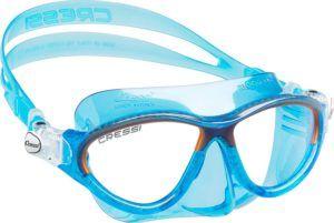 Masque couvrant les yeux et le nez, adapté pour la plongée en mer.