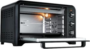 Optimo, le four électrique le plus polyvalent et le plus facile d'utilisation selon les tests ! Une capacité de 39 litres et sept modes de cuisson possibles.