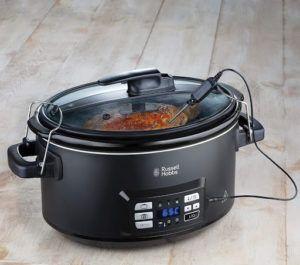 Outil de cuisson programmable avec écran numérique et réglage de la température.
