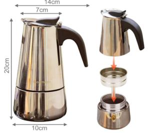 Sa contenance vous offre environ 6 tasses de café à chaque préparation.