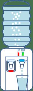 Un exemple d'un distributeur d'eau classique avec contrôle de température