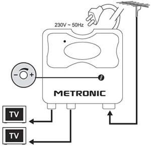 amplificateur d'antenne metronic 432176