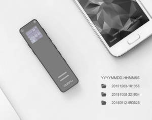 le dictaphone vous permet d'enregistrer en un seul clic.