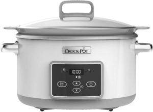 outil de cuisson doté d'un revêtement antiadhésif avec une cuve de 5 litres.