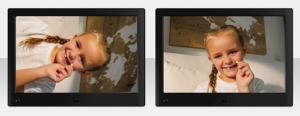 Le cadre photo numérique avec écran LED est équipée d'une rotation automatique. A notre avis, c'est génial.