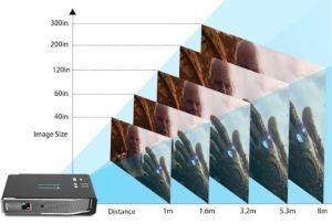 Le vidéoprojecteur 4k vous permet de regarder des films sur un grand écran.