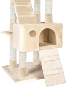 Cet arbre à chat offre beaucoup de possibilité à votre chat pour s'y cacher.