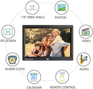 Ce cadre photo numérique dans notre comparatif vous offre pleins d'autres fonctionnalités intéressantes. Testez-le !