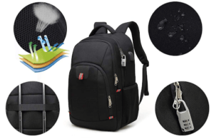Vous pouvez utiliser ce sac à dos la nuit en toute sécurité puisqu'il comporte des réflecteurs à l'avant. Pour soulager vos épaules, ce modèle a été conçu avec des bretelles larges et confortables en maille respirante.