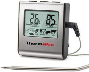 Thermomètre de cuisine polyvalent équipé de minuteur et d'un bipeur