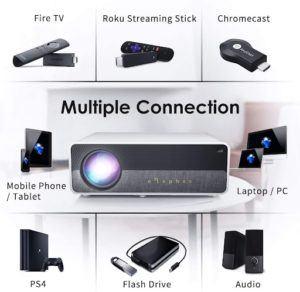 Profitez d'une multiple connection avec votre vidéoprojecteur 4k. Faites le test !