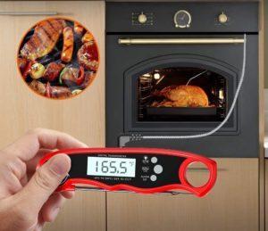 Thermomètre de cuisine numérique avec écran LCD