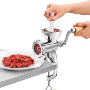 Appareil pour broyer la viande facilement.