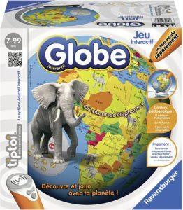 Globe interactif destiné à la découverte du monde par le jeu.