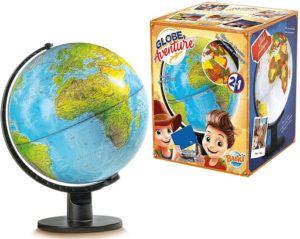 Globe interactif ludique et instructif pouvant devenir globe politique dans la nuit.