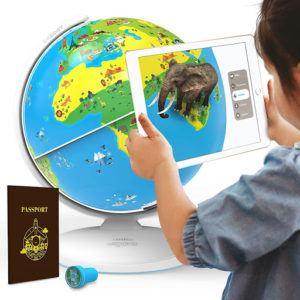 Globe interactif pour enfant avec application de réalité augmentée.
