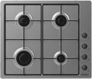 La cuisinière à gaz CANDY CHW6LBX vue d'en haut