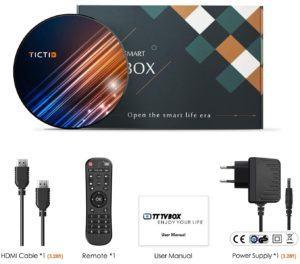 La smart tv box de TICTID avec tous ses accessoires