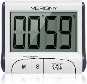 Minuteur électronique avec affichage analogique destiné à programmer le temps.