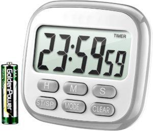 Minuteur alimenté par pile disposant de plusieurs fonctionnalités pour mesurer le temps