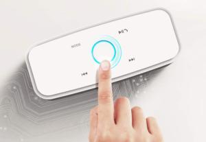 Les enceintes bluetooth vous permettent de connecter votre natel à votre enceinte sans avoir besoin de fil.