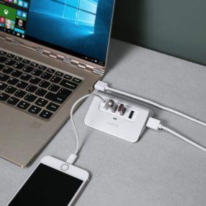 Dispositif de partage de données équipé de 4 ports USB de 3e génération.
