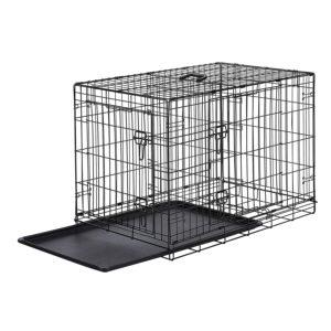 Selon les tests, ce cage pour chien a 2 portes pour une entrée pratique par l'avant ou le côté.
