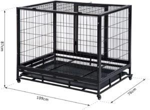 Conception pour utilisation pratique : porte principale d'entrée, sortie et porte supérieure pour l'alimentation et autres soins de votre animal