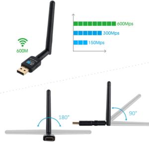 Cette clé wifi est pliable pour éviter de vous gêner pendant que vous travaillez sur votre ordinateur.