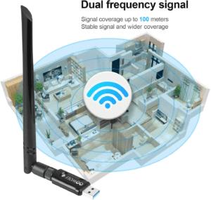 La clé wifi peut avoir un signal très fort.